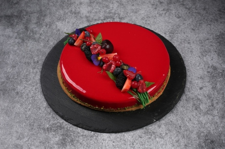 Tarte fruits rouges basilic