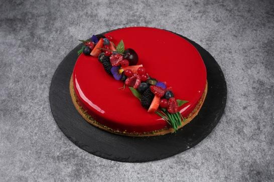 Tarte fruits rouges basilic