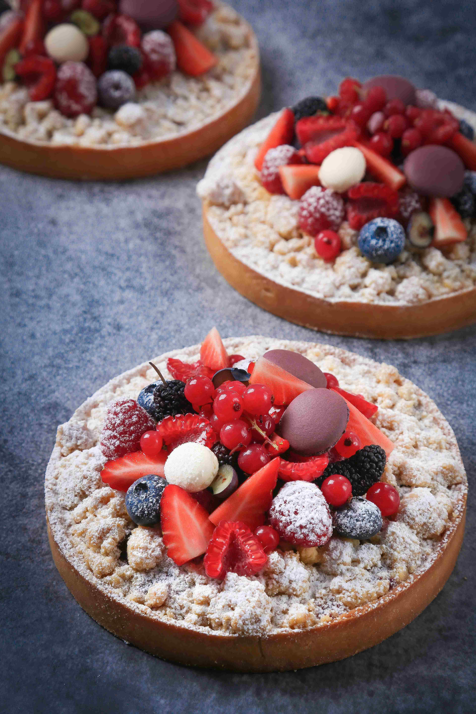 Tarte crumble fruits rouges红果酥粒挞